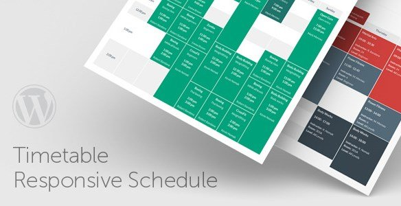 Timetable Responsive Schedule For WordPress 5.6