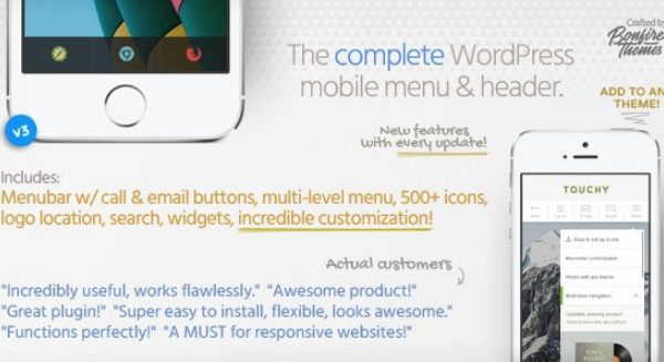 Touchy – WordPress Mobile Menu Plugin 3.1