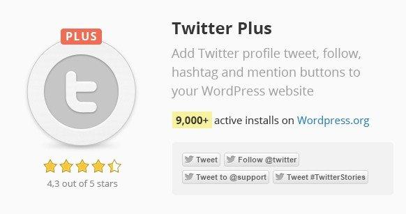Twitter Plus WordPress Plugin 2.57