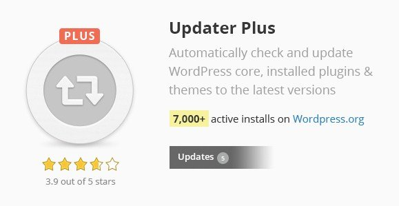Updater Plus WordPress Plugin 1.38