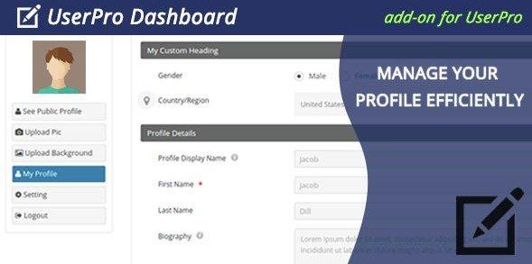 UserPro Dashboard 3.6.2