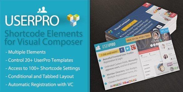UserPro Shortcode Elements for Visual Composer 1.1.3