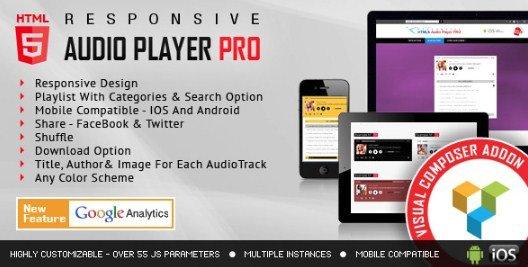 Visual Composer Addon – HTML5 Audio Player PRO 1.9.5