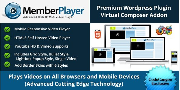 Visual Composer Addon : MemberPlayer HTML5 Video 1.13.3