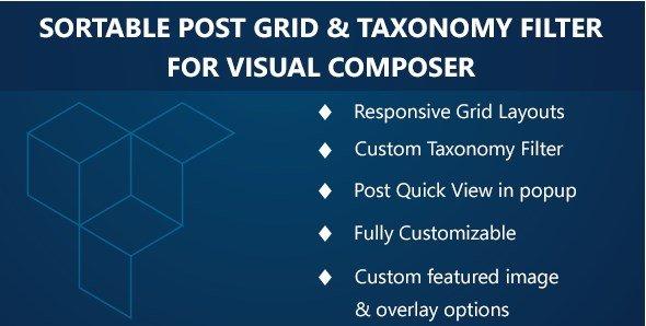 Visual Composer – Sortable Grid & TaxonomyFilter 3.1.0