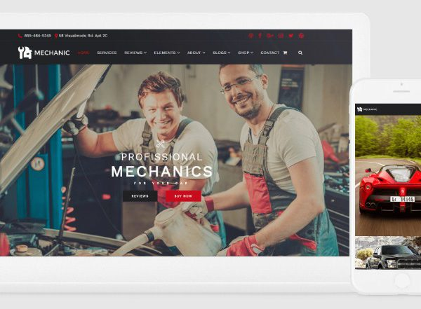 VisualModo Mechanic WordPress Theme 2.0.4