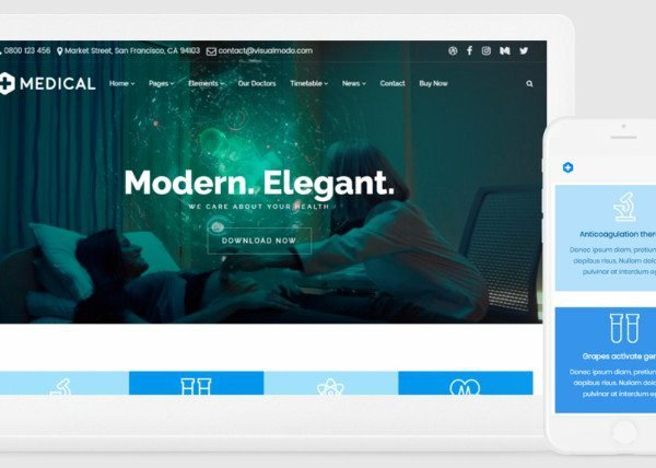 VisualModo Medical WordPress Theme 11.0.4