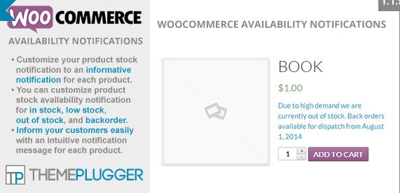 WooCommerce Availability Notifications 1.3.1