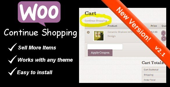 WooCommerce Continue Shopping Link 3.1