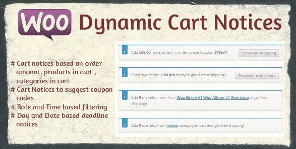 Woocommerce Dynamic Cart Notices 1.0.9