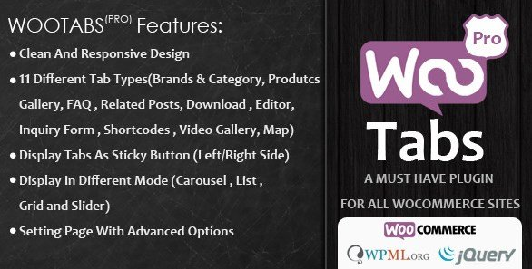 Woocommerce Tabs Pro – Extra Tabs for Product Page 2.9