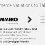Woocommerce Variations To Table – Grid 1.3.9