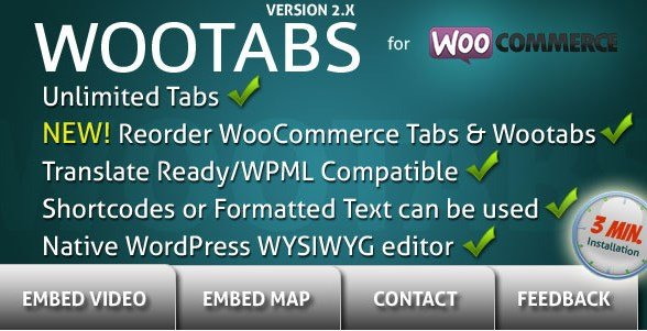 WooTabs – Add Extra Tabs To WooCommerce Product Page 2.1.8