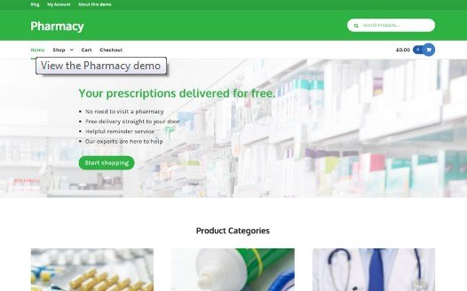 WooThemes Pharmacy Storefront WooCommerce Theme 2.0.13