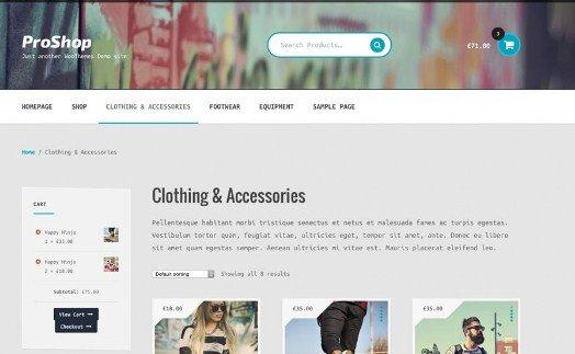 WooThemes Proshop Storefront WooCommerce Theme 2.0.14
