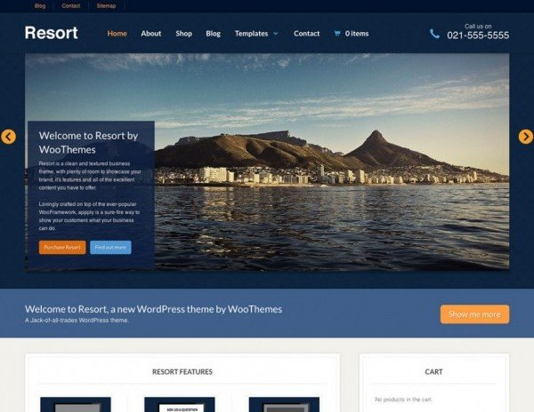 WooThemes Resort WooCommerce Themes 1.1.10