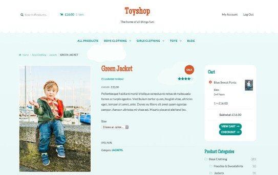 WooThemes Toyshop Storefront WooCommerce Theme 2.0.18