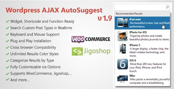 WordPress AJAX Search & AutoSuggest Plugin 1.9.9