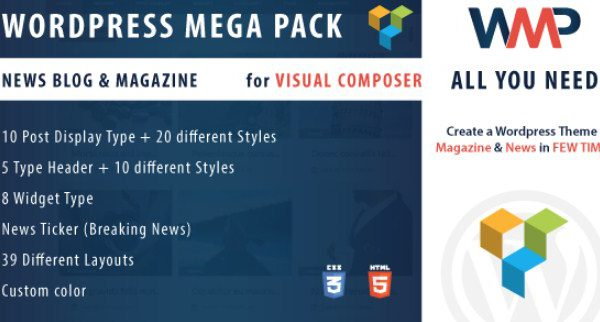 WordPress Mega Pack for Visual composer 1.0