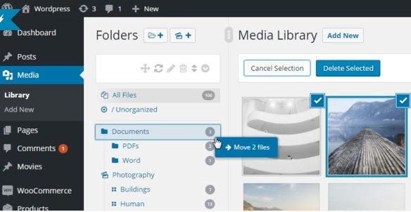 WordPress Real Media Library – Media Categories & Folders 4.1.0