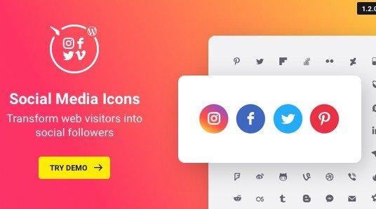 WordPress Social Media Icons Plugin 1.3.0
