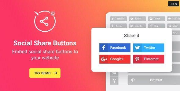 WordPress Social Share Plugin – Share Buttons 1.2.0
