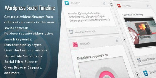 WordPress Social Timeline WordPress Plugin 1.8.9