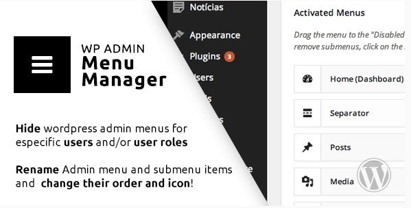 WP Admin Menu Manager 3.0.12