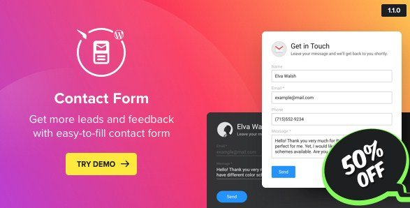 Contact Us Form – WordPress Contact Form Plugin 2.0.0