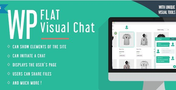 WP Flat Visual Chat – Live Chat & Remote View for WordPress 5.381