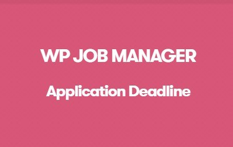 WP Job Manager Application Deadline Addon 1.2.1