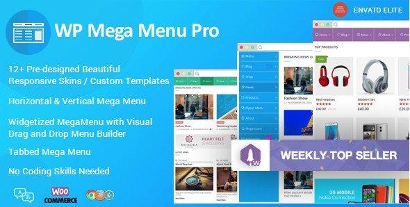WP Mega Menu Pro – Responsive Mega Menu Plugin for WordPress 1.1.1