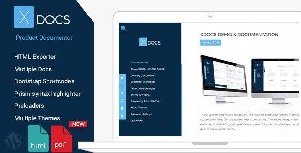 X Docs WordPress Product Documentation Creator 1.0.4