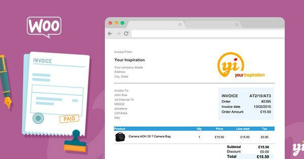 YITH WooCommerce PDF Invoice and Shipping List Premium 1.8.6