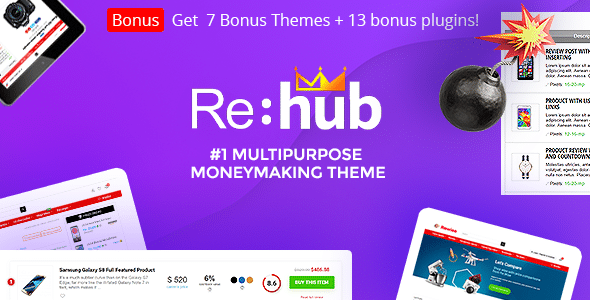 REHub 9.3.2 – Comparador de precios, Marketplaces, Marketing de afiliados