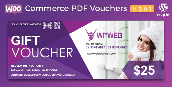 WooCommerce PDF Vouchers – WordPress Plugin 3.9.1